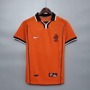 Camisa Holanda Retro 1998 - Nike Masculino - Laranja