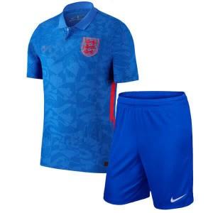 Camisa e Shorts Inglaterra II 2020 - Nike Infantil - Azul