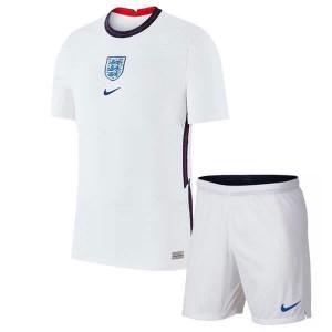 Camisa e Shorts Inglaterra I 2020 - Nike Infantil - Branco