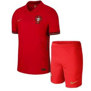 Camisa e Shorts Portugal I 2020 - Nike Infantil - Vermelho