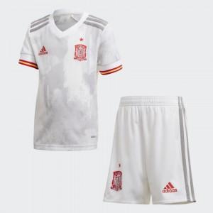 Camisa e Shorts Espanha II 2020 - Adidas Infantil - Branco